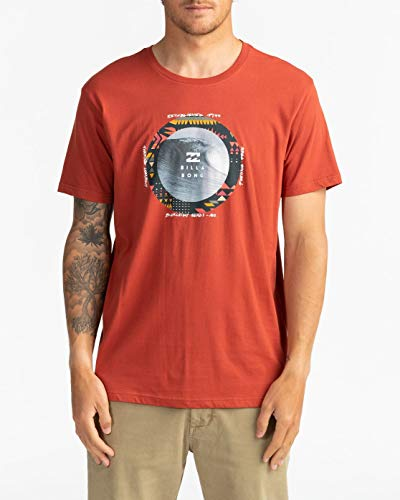 BILLABONG - Plug in Camiseta, Deep Red, L