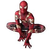 FLJLGY Disfraz de superhéroe Medias siamesas Iron Spiderman Onesies de una Pieza Niños Vengadores Cosplay Body Disfraces de Tela de Lycra Impresos en 3D,Red- Women 1X 165~170 cm