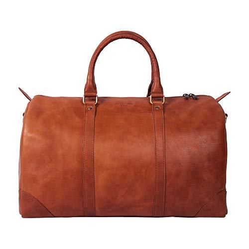 HOLZRICHTER Berlin No 8-1 (M) - Premium Leather Hand Luggage Weekender Travel Bag