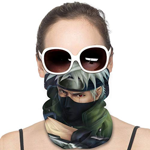 Kakashi Hatake Of Naruto Mask & Shield Face Mask Shield Protective For Men & Women Fashion Variety Head Scarf Balaclava For Dust, Outdoors, Sports