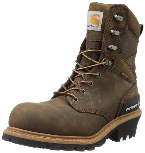 Carhartt Men's 8″ Waterproof Composite Toe Leather Logger