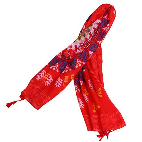 PRETYZOOM Mujer Chal Sarong Wrap Floral Playa Toalla Bohemia Bikini Cubierta