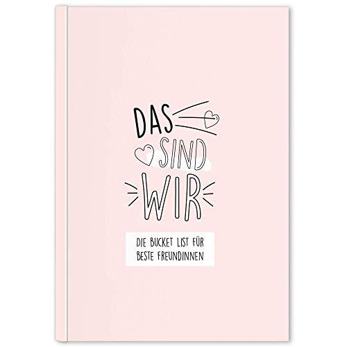 CUPCAKES & KISSES® Bucket List Buch für Beste Freundinnen I Geschenke für die beste Freundin I BFF Geschenke I Geschenk Best Friends I Geschenkidee
