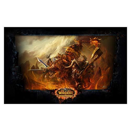 World of Warcraft WOW - Alfombrilla de ratón grande para videojuegos (color: 2, tamaño: 900 x 400 x 3 mm)