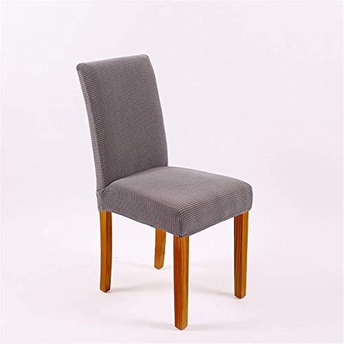 XBSXP Fundas para sillas de Comedor, Fundas de Tela elásticas para sillas de Comedor, Fundas elásticas para sillas Grandes para Comedor, Bodas, Banquetes, decoración de Fiestas, Gris, 2
