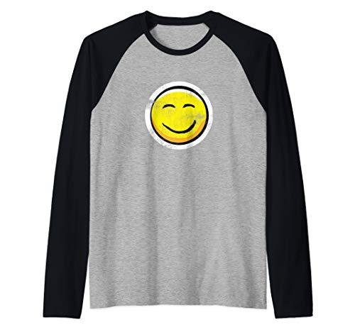 Vintage smiley face t shirt | Yellow Smiley Raglan Baseball Tee