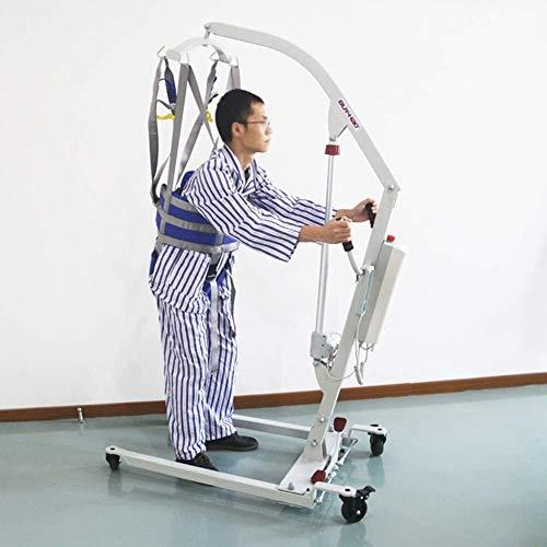 415P+JvX VL - Grúa de paciente portátil Equipo Paciente Caminar honda de la banda de transferencia con altura ajustable for ancianos, honda Punto Superior de cuerpo completo levantador Cuatro con acolchado de tampó