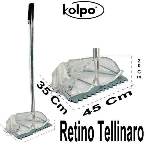 Kolpo TELLINARO Grande ZINCATO Da Pesca In Mare 45X35X20 CM