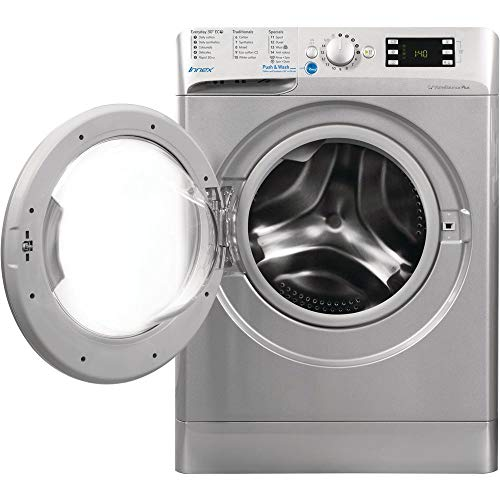 INDESIT BWE91484XSUK Innex 9kg 1400rpm Freestanding Washing Machine - Silver