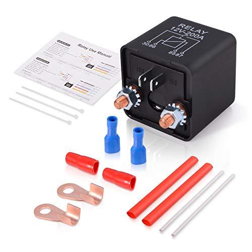 Relé de Coche Kit de zócalo de transmisor de motor de motor de potencia 200a 12V 24V Normalmente abierto automotriz ON/OFF Interruptor de salida de automóvil de alta corriente (Color : 24V)