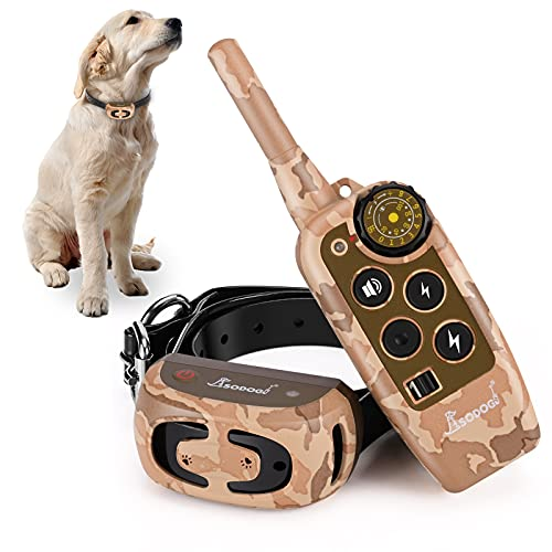 Dog Training Collar, Rechargeable Shock Collars for Dogs with 2000Ft Remote, Dog Collar for 3 Training Modes Vibration…