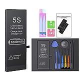 Batería para iPhone 5S 1800mah, ButcHer Alta Capacidad Nuevo 0 ciclos Batería de Repuesto con Kit de reparación Completo, Compatible con APN: A1453, A1457, A1533, A1518, A1528, A1530