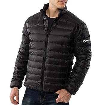 Alpine Swiss Niko Mens Down Alternative Jacket Puffer Coat Packable Warm Insulation & Lightweight BLK 1XL