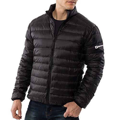 Alpine Swiss Niko Mens Down Alternative Jacket Puffer Coat Packable Warm Insulation & Lightweight BLK 2XL