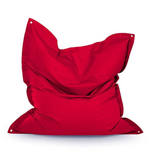 Outbag Meadow Pouf, Polyester, Rouge, 160 x 130 cm
