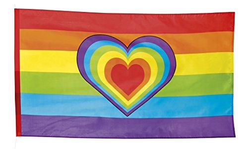 Boland 44721 Polyester Fahne Regenbogen, One Size