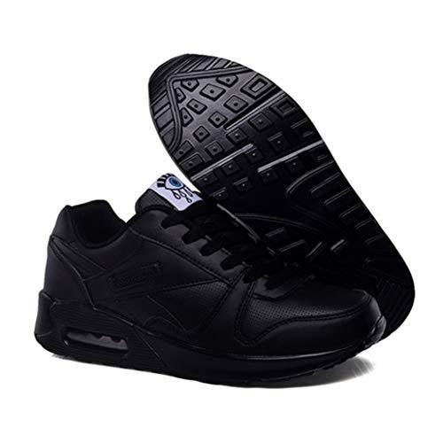 Damen Sneakers Leichte Toning Rocker Bottom Slimming Fitness Swing Schuhe Atmungsaktive Schnürung Luftkissen Plattform Wedges Trainer