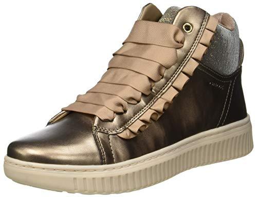 Geox J Discomix A, Sneaker a Collo Alto Bambina, Oro (Lead C9003), 34 EU