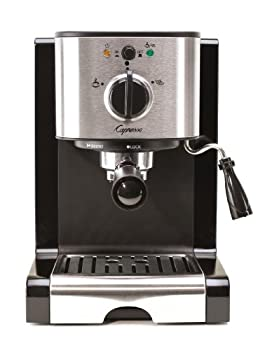 Capresso 116.04 Pump Espresso and Cappuccino Machine EC100 Black and Stainless