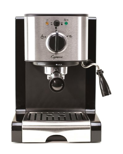 Capresso 116.04 Pump Espresso and Cappuccino Machine EC100, Black...