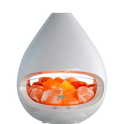 Salzkristall Lampe und Diffuser Raumbedufter mit Salzsteinen 22x19 cm Duftlampe Nachtlicht Kristall Dimmbar