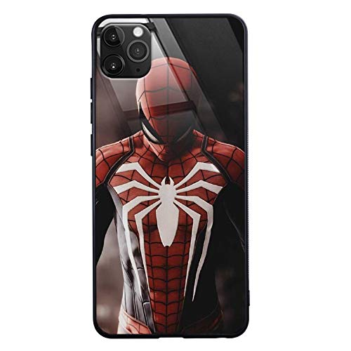 Marvel Hero Call Led Flash Luminescent Glass case for iPhone 12 Mini, 12/12 Pro, 12 Pro Max, Venom, Spider Man, Iron Man Case Anti-Scratch Tempered Glass Cover (Spider Man Front, iPhone 12 Pro Max)