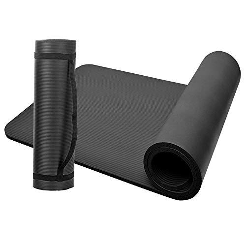 Lixada Colchoneta de Yoga Antideslizante NBR Espuma de Celda Cerrada Esterilla para Yoga Ejercicios Fitness 183 * 61 * 1cm