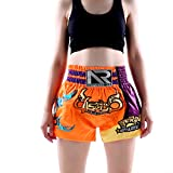 BKX Pantalones Cortos de Entrenamiento de Lucha para niñas, MMA Artes Marciales Mixtas Own Fighting UFC Pantalones Cortos elásticos Sueltos de Taekwondo Muay Thai para a XL