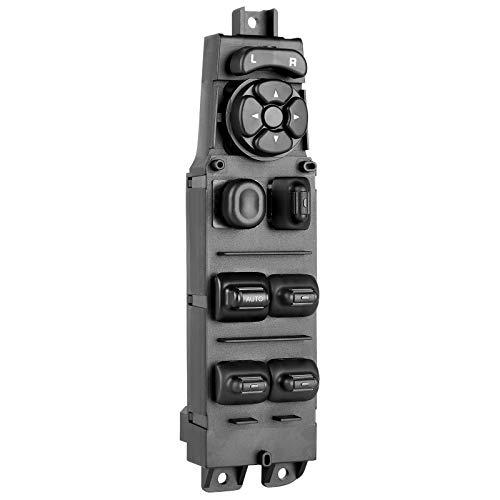 Power Master Window Switch 56049805AB - Compatible with Dodge Ram Truck Dakota Quad Cab Durango Sprinter - with Mirror Adjust, Auto Down Control