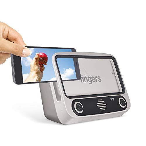 FINGERS My-Own-TV (MOT) Portable Speaker - High Utility Phone Holder/Mobile Stand   Bluetooth Portable Speaker   Retro Radio