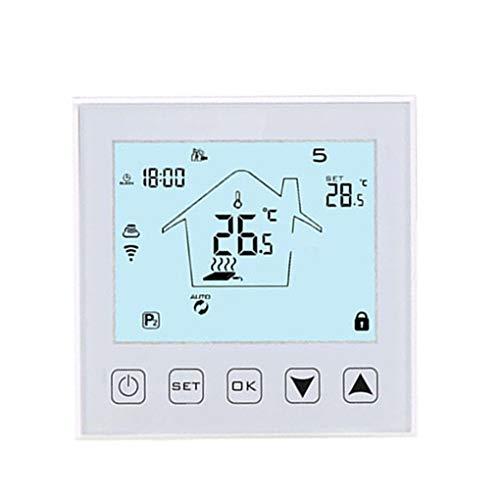 fgyhtyjuu Intelligenter Tremperature LCD Controller APP Intelligenter Tremperature Controller, APP WiFi WiFi Fußbodenheizungsthermostat Fernthermostat