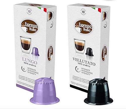 Nespresso Capsules Variety Pack CAPSUCUP - Espresso Italia Coffee pods for Nespresso OriginalLine machines 80 count certified compatible with genuine Nespresso Original. 100% ARABICA VALUE PACK