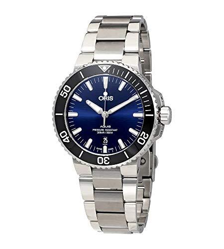 Oris Aquis reloj automático para hombre esfera azul 01 733 7730 4135-07 8 24 05PEB