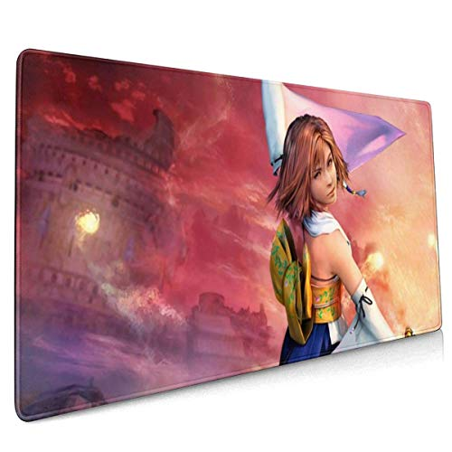 Final Fantasy X-Yuna Anime Mouse Pad 15.7 X 35.4 Inch (40 X 90 cm) Soft Gaming Mouse Mat Ultra Thick 3mm Extended Large