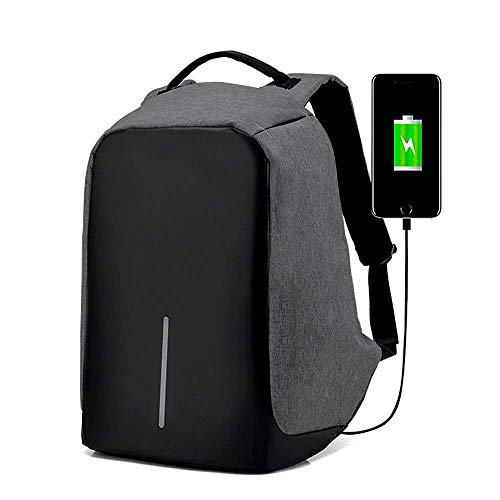RedLemon Mochila Antirrobo Impermeable con Cable USB para Power Bank, Ideal para Laptop, Tablet y…