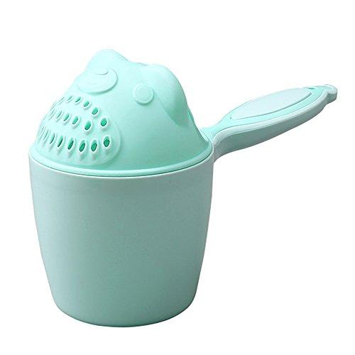 Newin Star Recipiente para baño,Recipiente para aclarar el Cabello de bebé Herramienta Ducha champú de baño para bebé (Verdor)