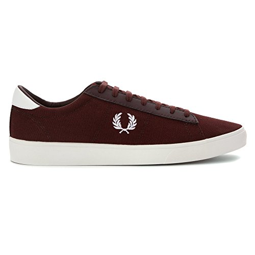 Fred Perry Men's Spencer Canvas/Leather Sneaker Burgundy/White 9.5 UK