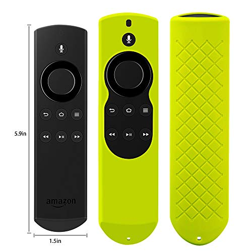 Cover for Alexa Voice Remote for Fire TV and Fire TV Stick (1st Gen) Shockproof Protective Silicone Case - Chartreuse