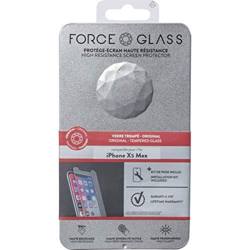 Force Glass Protège-Écran en Verre Trempé pour iPhone XS Max