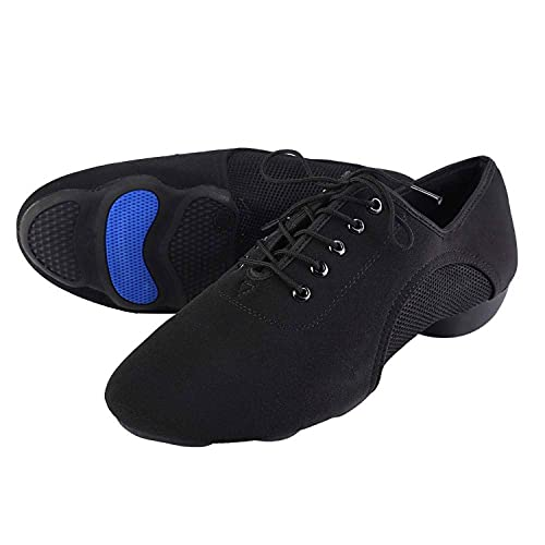 Zachte Latin Schoenen Oxford Doek Comfortabele Latin Schoenen Unisex Dansschoenen voor Latin Salsa Tango(38)