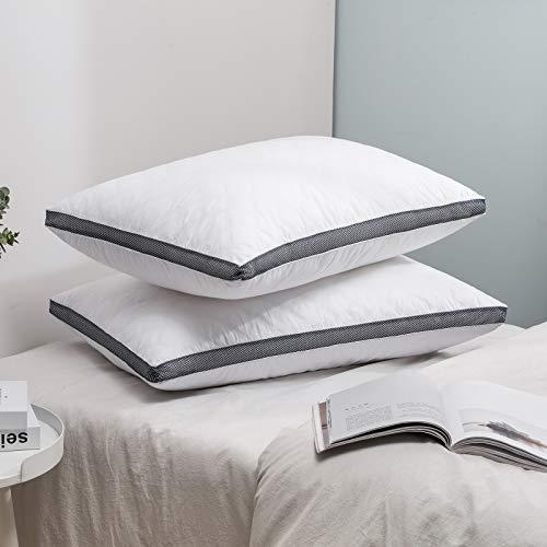 MIULEE 2 Piezas Relleno de Almohada Mullido para Dormir Relleno de Microfibra Suave Transpirable Almohada Estandar para Adultos Indeformable Fibra Hipoalergénica 40 x 80cm Blanco