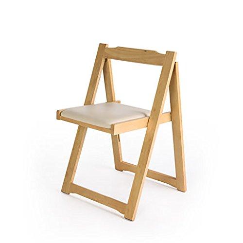 Popa Chaise Pliante Chaise Fauteuil en Bois Massif Minimaliste Moderne/Chaise de Bureau à la Maison Adulte/Chaise à Manger Nordique Chaise Pliante (Couleur : A)