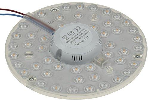 LED Ring Modul für Deckenleuchten mit Magnethalter 24W Ø18cm 2150 Lumen 230V anschlussfertig Warmweiss