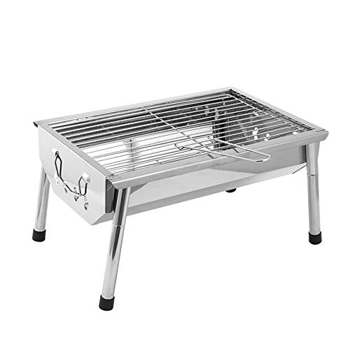 Best Deals! Zr Stainless Steel Grill Mini Barbecue Outdoor Home BBQ3-5 People Charcoal Grilled Tools...