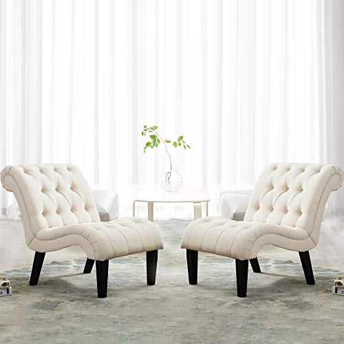 Yongqiang Set of 2 Accent Chair for Living Room Bedroom Upholstered...