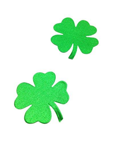 Dames klaverblad groen tepel sticker patroon mok beha pad borst intieme sieraden grootte Ø 80mm