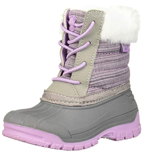 OshKosh B'Gosh Girls' SNOE Fashion Boot, Purple, 12 M US Little Kid