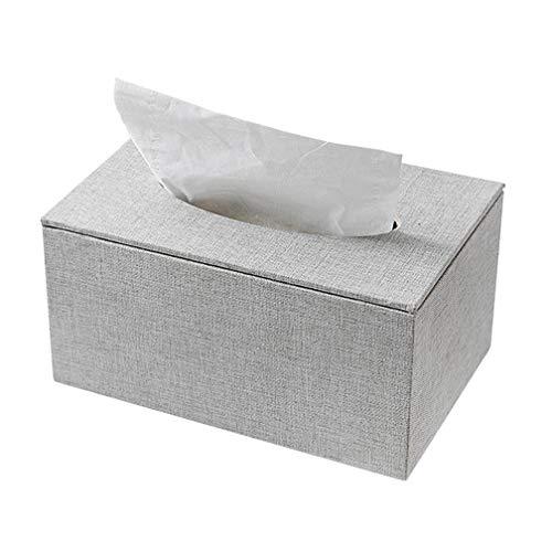Scatola per fazzoletti, tovaglioli, scatola di pompaggio, scatola per fazzoletti per il viso, per casa, ufficio e auto (grigio)