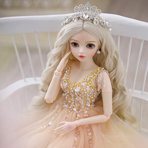 BJD Doll Deluxe Collector Doll 1/3 schaal Ball Jointed Doll Gelede 23,6 inch 60cm SD Modepop met volledige set Kleren Schoenen Pruik Make-upaccessoires
