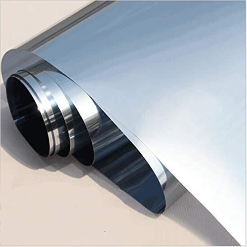 LRQY Plata Reflexivo Vinilo Espejo para Ventanas, UV Protección Control De Calor & Tiempo De Día Privacidad Película para Ventanas, por Oficina Hogar,100x800cm(39x315inch)